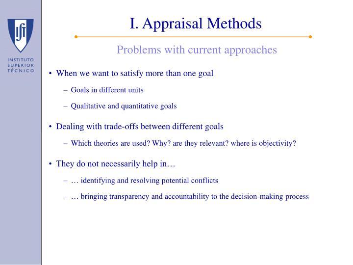 I. Appraisal Methods