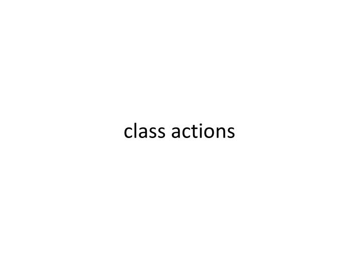 class actions