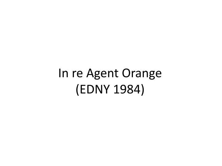 In re Agent Orange