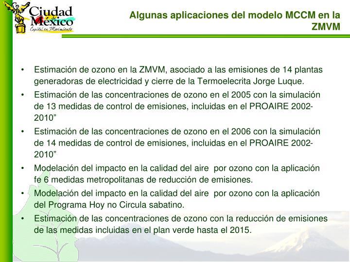 Estimación de ozono en la ZMVM, asociado a las emisiones de 14 plantas generadoras de electricidad y cierre de la Termoelecrita Jorge Luque.