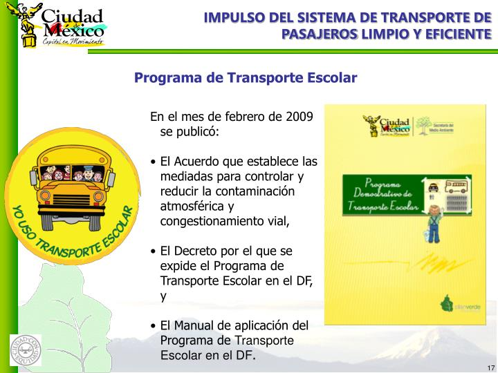 IMPULSO DEL SISTEMA DE TRANSPORTE