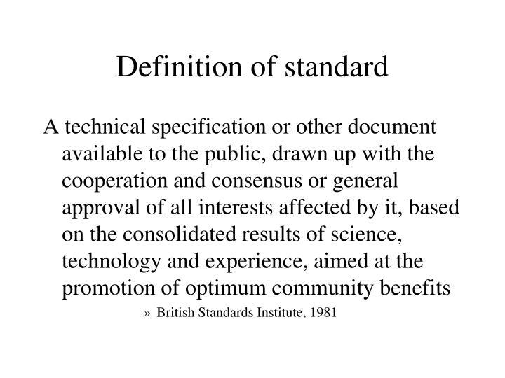 Definition of standard