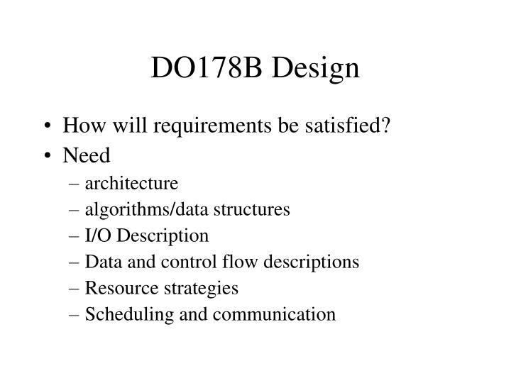 DO178B Design