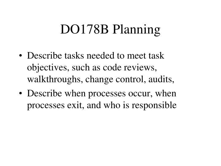 DO178B Planning