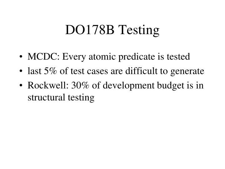 DO178B Testing