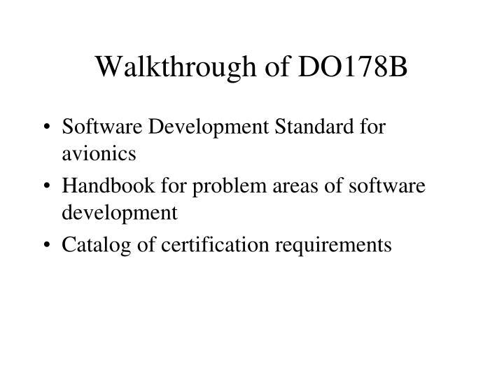 Walkthrough of DO178B