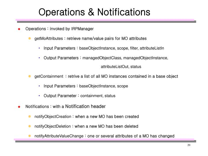 Operations & Notifications
