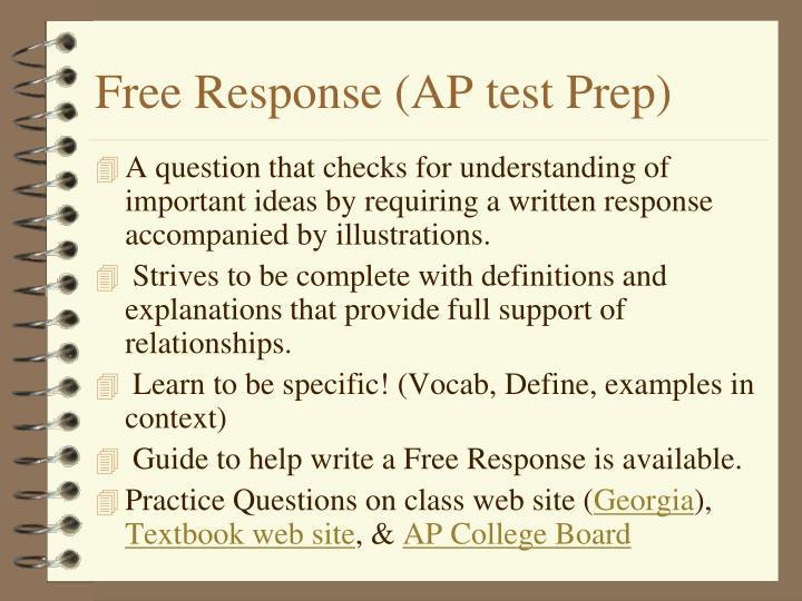 Free Response (AP test Prep)