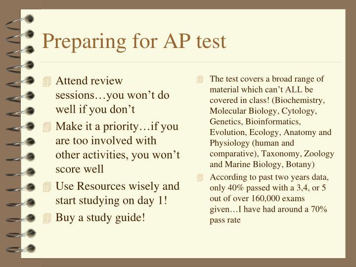 Preparing for AP test