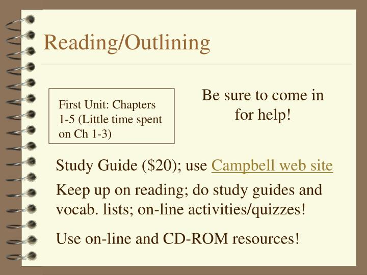Reading/Outlining