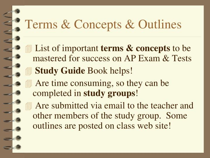 Terms & Concepts & Outlines