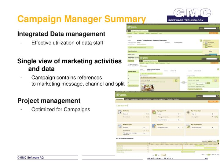 Campaign Manager Summary