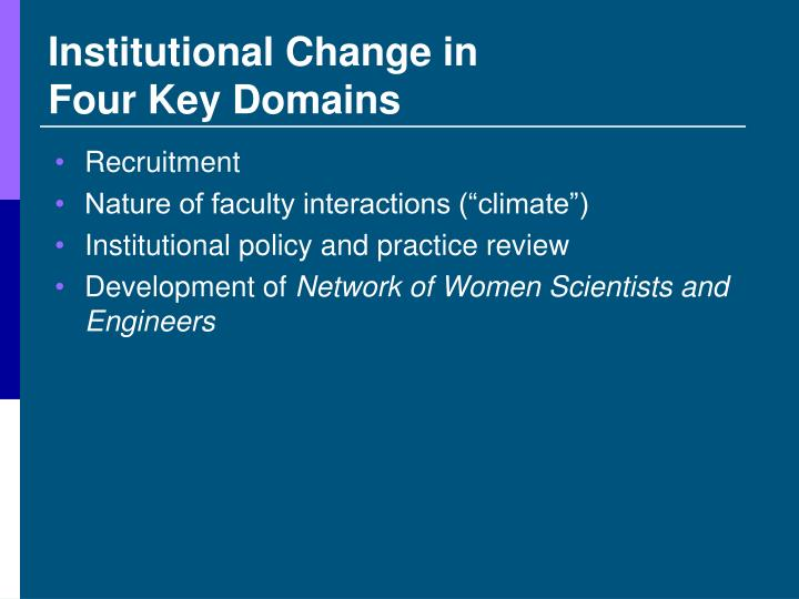 Institutional Change in