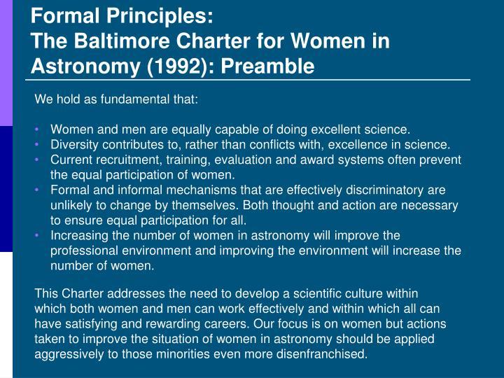 Formal Principles: