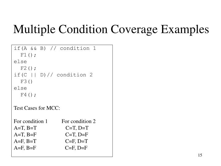 Multiple Condition Coverage Examples