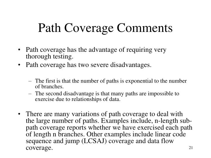 Path Coverage Comments