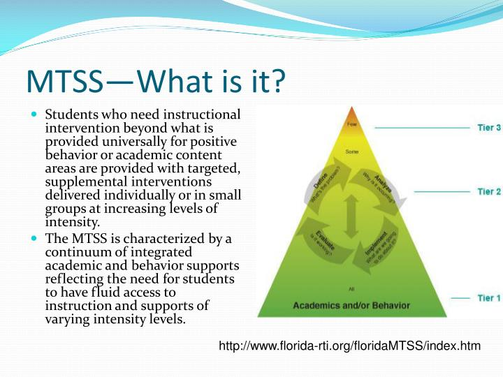 MTSS—What is it?