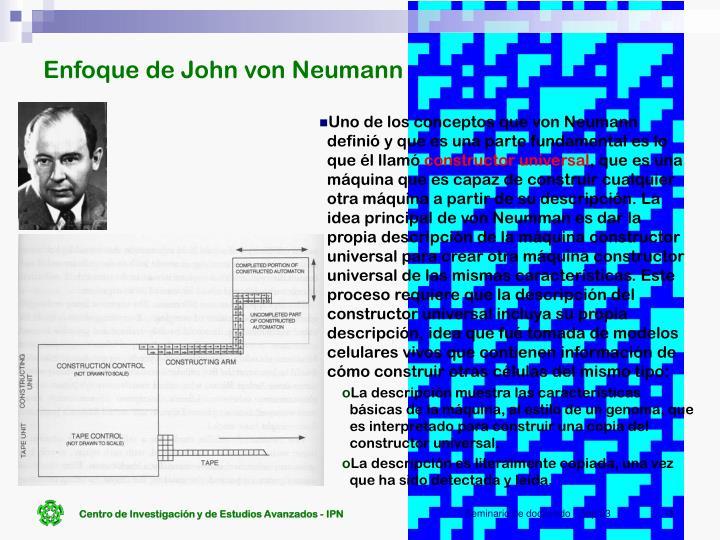 Enfoque de John von Neumann