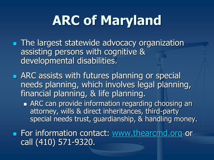 ARC of Maryland