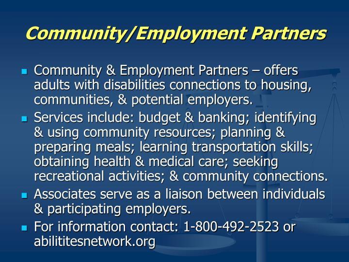 Community/Employment Partners