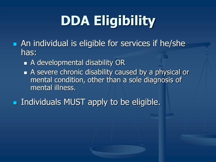 DDA Eligibility