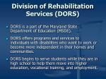 division of rehabilitation services dors