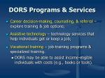 dors programs services