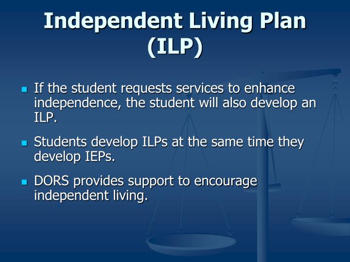 Independent Living Plan (ILP)