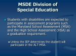 msde division of special education