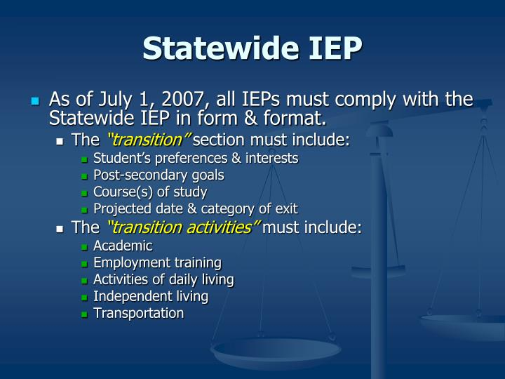 Statewide IEP