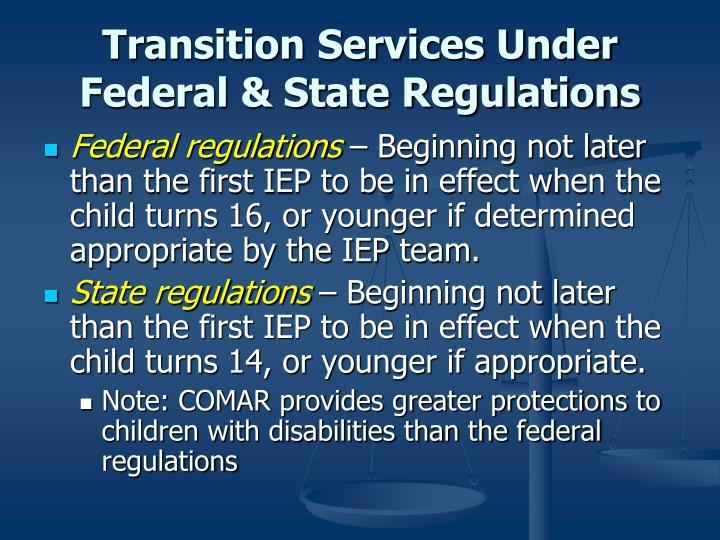 Transition Services Under