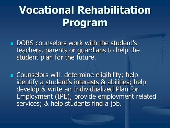 Vocational Rehabilitation Program