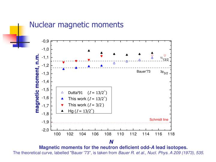 Nuclear magnetic moments