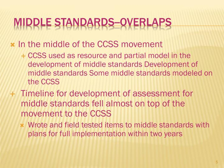Middle Standards--Overlaps
