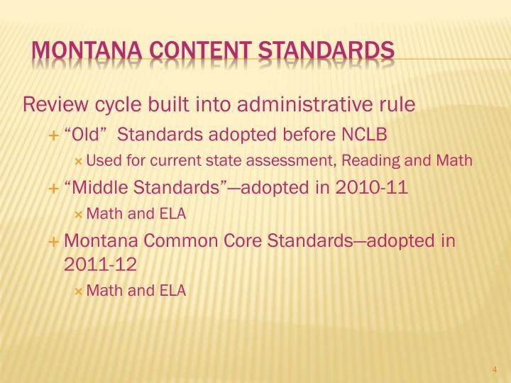 Montana Content Standards