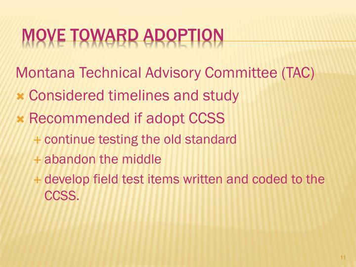 Move toward adoption