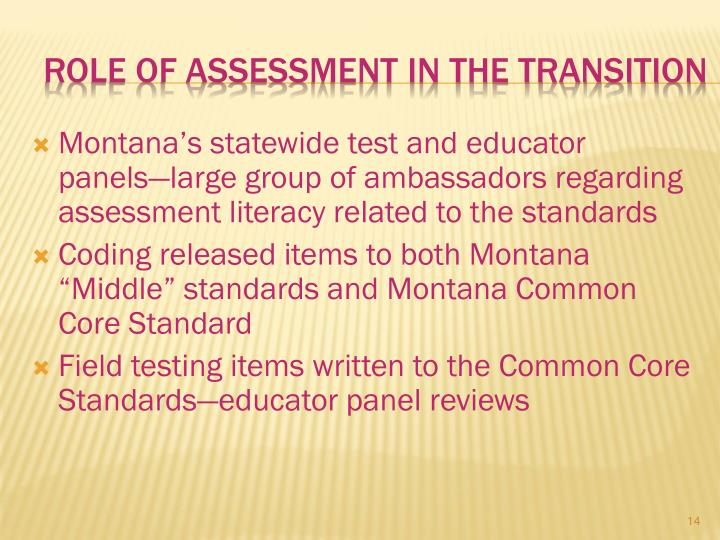 Role of Assessment in the Transition