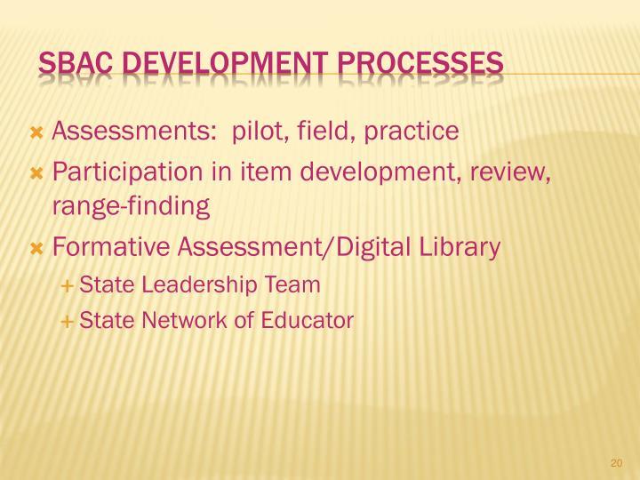 SBAC Development Processes