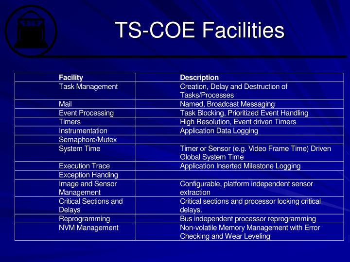 TS-COE Facilities
