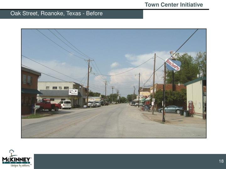 Oak Street, Roanoke, Texas - Before