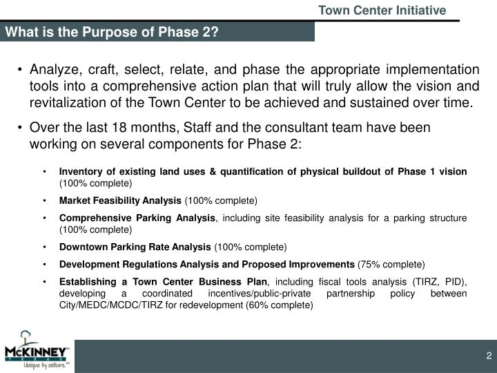 What is the Purpose of Phase 2?