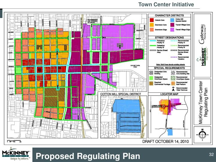 Proposed Regulating Plan