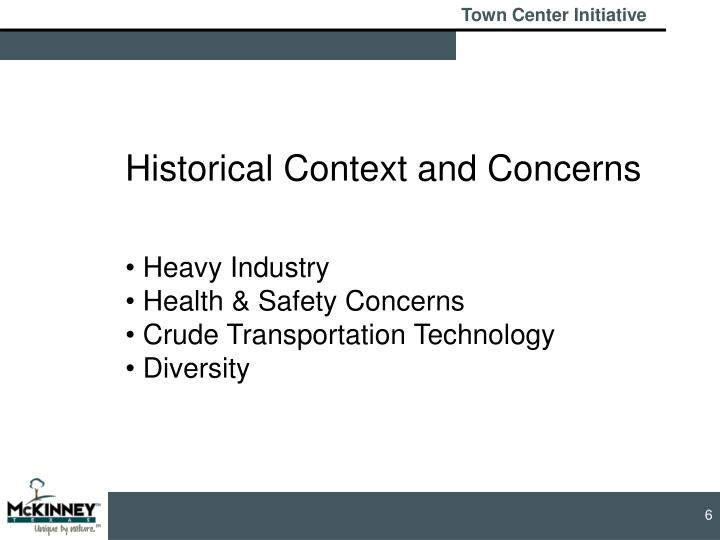 Historical Context and Concerns