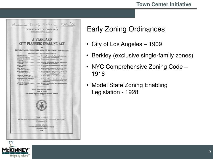Early Zoning Ordinances