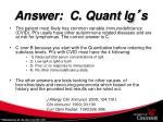 answer c quant ig s
