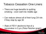 tobacco cessation one liners