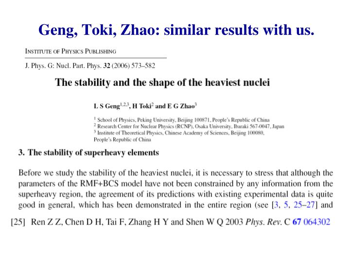Geng, Toki, Zhao: similar results with us.