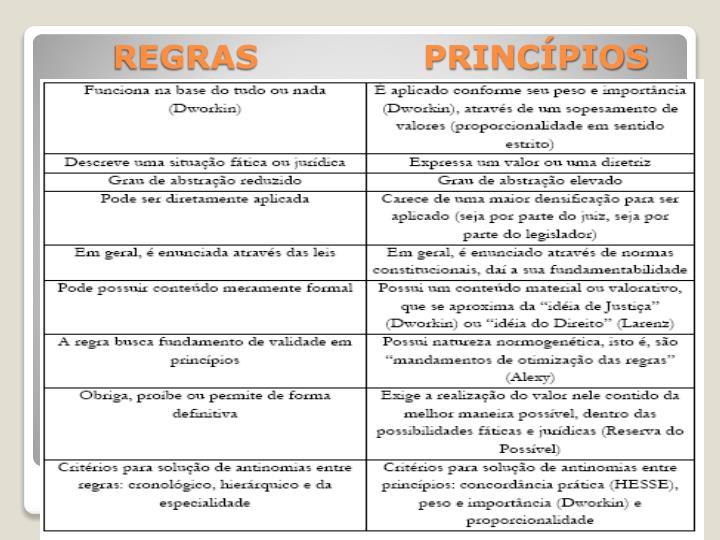REGRAS               PRINCÍPIOS