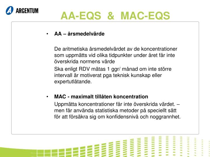 AA-EQS  &  MAC-EQS