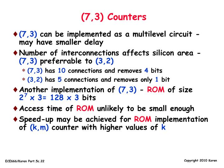 (7,3) Counters